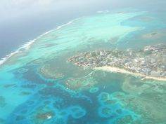 San Andres, Colombia from above