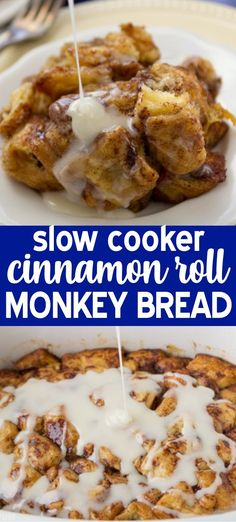 Breakfast Recipes Slow Cooker Cinnamon Roll Monkey Bread is perfect for breakfast! This easy recipe is crockpot monkey bread made with cinnamon rolls! Monkey bread in a crockpot is like a breakfast casserole that's the perfect easy brunch recipe. Vegetarian Brunch Recipes, Make Ahead Brunch Recipes, Easy Appetizer Recipes, Easy Recipes, Crockpot Breakfast Ideas, Slow Cooker Breakfast, Easy Meals, Oven Recipes, Vegetarian Cooking