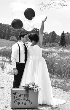 Marriage-Elope photo idea...Todd and I need to do this!