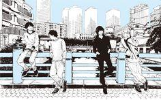 羽海野チカが2014年に描き下ろしたBUMP OF CHICKENのイラスト。