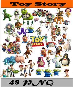 Toy Story Collection PNG Vector Instant Download Disney Clipart Digital Albums Magnets Collages Greeting Cards Sticker Printable Party Items by SlavGraphics on Etsy