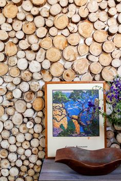 Wood Slices and Framed Art