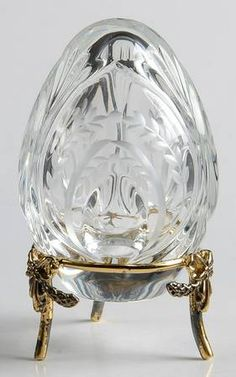 Faberge Faberge Crystal Egg Cut Petit Egg - Boxed