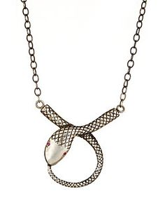 Tina Tang Looped Snake Pendant Necklace  Price: $195.00