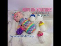 Rainbow Loom - Baby Bottle - Loomigurumi - Looming WithCheryl
