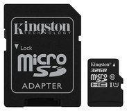 Kingston - 32GB microSDHC Class 10 UHS-1 Memory Card - Black