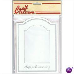 Single Display Card ~ Happy Anniversary - Silver/Arched aperture on #eBid United Kingdom £0.45