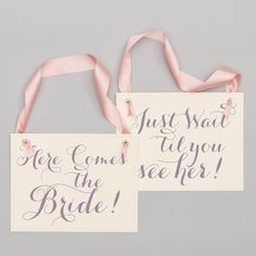 Amazing offer on 2 Wedding Signs Here Comes Bride! + Just Wait 'Til You See Her! Funny Wedding Signs, Wedding Humor, Wedding Signage, Wedding Ceremony, Rose Gold Ribbon, Flower Girl Signs, Ring Bearer Signs, Young Wedding, Second Weddings