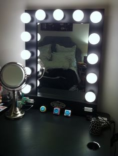 Lighted Makeup Mirror & How To Make It Yourself | Lighted vanity ...