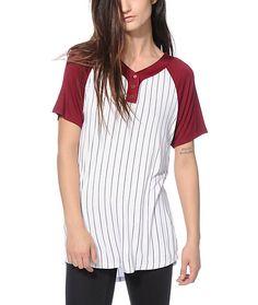 Ninth Hall Pedro Burgundy Baseball T-Shirt  63310f3cc