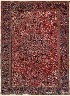 This is a Antique Persian Ahar Heriz Collectible Oriental Red Room Size Decorative floral Rug. Shag Carpet, Wall Carpet, Carpet Tiles, Rugs On Carpet, Red Persian Rug, Persian Carpet, Rug Company, Cheap Carpet Runners