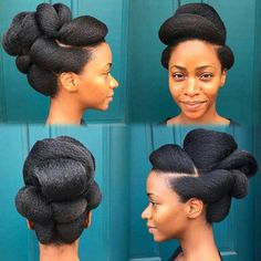 The Most Stunning Natural Hair Updo's Ever! Black Hairstyles & Natural Hair Styles: Hair Care Tips Natural Updo, Updo Cabello Natural, Natural Hair Care, Natural Hair Styles, Natural Beauty, African Hairstyles, Afro Hairstyles, Black Hairstyles, Bridal Hairstyles