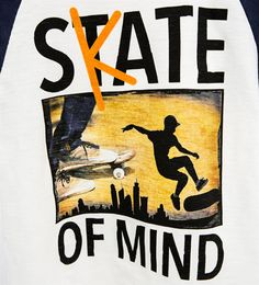 """Skate of mind"" T-shirt-T-SHIRTS-BOY   4-14 years-KIDS   ZARA United Kingdom"