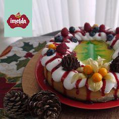 Cheesecake horneado de menta con base de red velvet. #corona #imelda #creaalgounico    www.imelda.pe