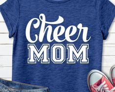 Create T Shirt, How To Make Tshirts, Dad To Be Shirts, Family Shirts, Cute Cheer Shirts, Cheerleading Shirts, Cheer Camp, Cheer Coaches, Cheer Gifts