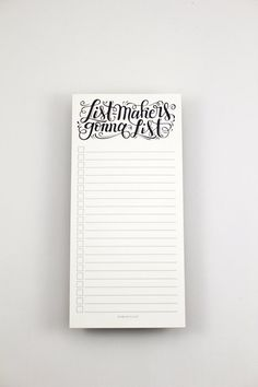 notepad Listmakers gonna list Hand lettered by HowjoyfulShop