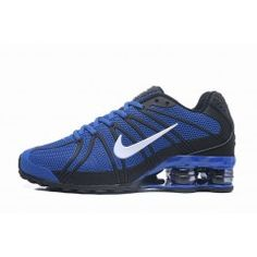 finest selection 3cba5 c8e9f Hommes Chaussure Nike Shox Bleu Noir  NikeShox