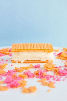 Wafer Ice Cream Sandwiches- Paint the Gown Red
