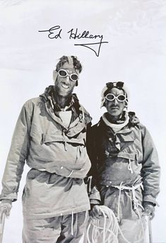 Sir Edmund Hillary & Sherpa Tenzing Norgay - Hillary Signed Photo on Mt Everest
