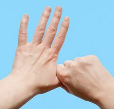 Hand massage for stress relief and health benefits. Trigger Finger Exercises, Hand Reflexology, Yoga Mantras, Hand Therapy, Massage Benefits, Health Benefits, Feelings And Emotions, Muscle Pain, Yoga Tips