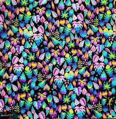 Magical Jungle leaves pattern