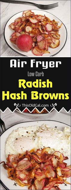 Low Carb Air Fryer Radish Hash Browns are Keto Friendly and seriously delicious…. Low Carb Air Fryer Radish Hash Browns are Keto Friendly and seriously delicious. Replace Hash Brown Potatoes with these healthy gems. Air Fryer Recipes Keto, Low Carb Recipes, Healthy Recipes, Healthy Meals, Healthy Cooking, Healthy Dishes, Healthy Eating, Hash Browns, Keto Foods