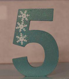 Disney Frozen Elsa Inspired Snowflake Birthday Number