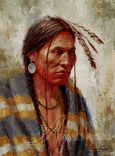 native american art by james ayers | Quiet Contemplation (Lakota), James Ayers original painting, 2009 ...