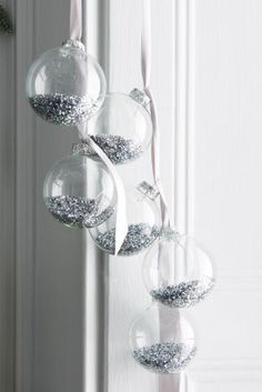 Spread a little glitter love this Christmas with our filled baubles, perfect for the contemporary home!