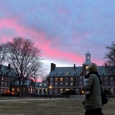 Sunset over the Quad #smithcollege (at Smith College)