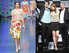 Emma Stone In Dolce & Gabbana  - 'The Amazing Spiderman' Tokyo Press Conference