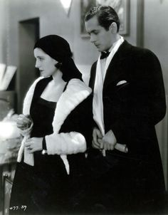 Norma Shearer and Robert Montgomery in a production still from The Divorcee (Robert Z Leonard, 1930)