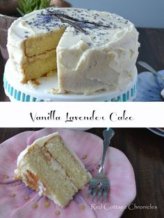 Vanilla Lavender Cake - redcottagechronicles.com