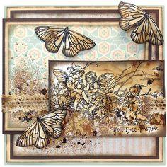 Fairy Garden and Butterflies by Jennifer Dove