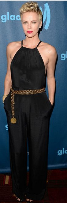 Charlize Theron: Jumpsuit – Jason Wu  Jewelry – Van Cleef & Arpels
