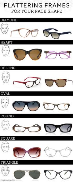 Glasses: STYLE'N | Naina Singla - fashion stylist and style expert - Blog - Flattering Frames For Your Face Shape