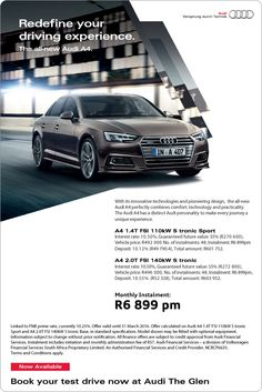 The All New Audi A4 - From Only R6 899 pm