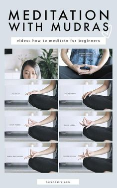 how to meditate for beginners with mudras hand poses meditation video beginner meditation meditation tips health wellness mindfulness mindful living energy reflec. Guided Meditation, Meditation Mantra, Meditation For Anxiety, Meditation Videos, Easy Meditation, Meditation For Beginners, Meditation Benefits, Chakra Meditation, Meditation Practices