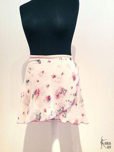 Ballet-winding skirt romantic flowers hand sewn by kakakiri