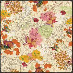 Pat Bravo - Indie - Wonderlust in Solei $10 a yard  Love love love this fabric!