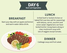 Cabbage Soup Diet - The Cabbage Soup Diet Plan Day 6: Beef And Vegetables