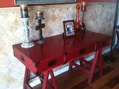 LITTLE RED WRITING DESK...