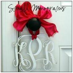 Monograms-hang on her doorknob