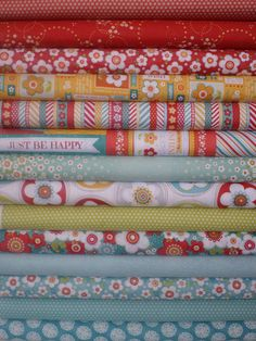Adornit, Crazy for Daisies, Juicy Fruit in FAT QUARTERS 14 Total