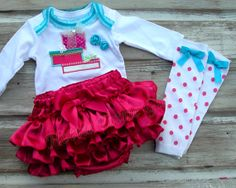 Bella Baby Blu Ruffle Diaper Cover SET by HottieTottieGirl on Etsy, $65.00