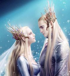 """""""My mother died there. There is no grave, or memory. My father never speaks of her."""" ~ Legolas """"Legolas, your mother loved you."""" ~ Thranduil """"We shall meet again, my darlings. Hobbit Art, O Hobbit, Legolas And Thranduil, Mirkwood Elves, Art Anime, Jrr Tolkien, Fantasy Artwork, Lord Of The Rings, Middle Earth"""