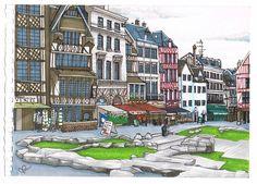 N°5 Réalisation de Colette « Rouen » http://www.graphit-marker.com/blog/gagnants-concours-graphit/
