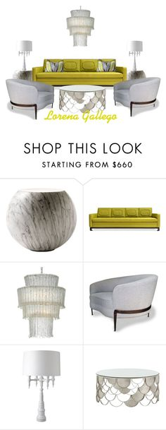 Amarillo by lorena-gallego on Polyvore featuring interior, interiors, interior design, hogar, home decor, interior decorating, Jonathan Adler, Arteriors, Cappellini and Dunes and Duchess