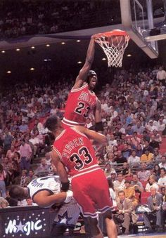Michael Jordan and Anfernee Hardaway