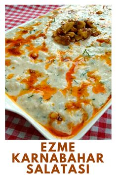 Ezme Karnabahar Salatası – Nefis Yemek Tarifleri – Salata meze kanepe tarifleri – The Most Practical and Easy Recipes Salad Recipes, Vegan Recipes, Delicious Recipes, Pigs In A Blanket, Cauliflower Salad, Yummy Food, Tasty, Vegetable Drinks, Vegetable Garden
